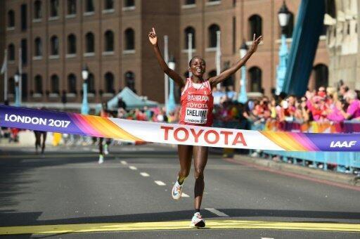 البحرينية روز شليمو تظفر بالميدالية الذهبية في بطولة العالم لألعاب القوى في لندن