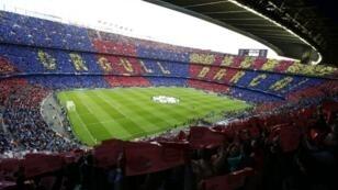 """صورة من ملعب برشلونة، """"كامب نو""""."""