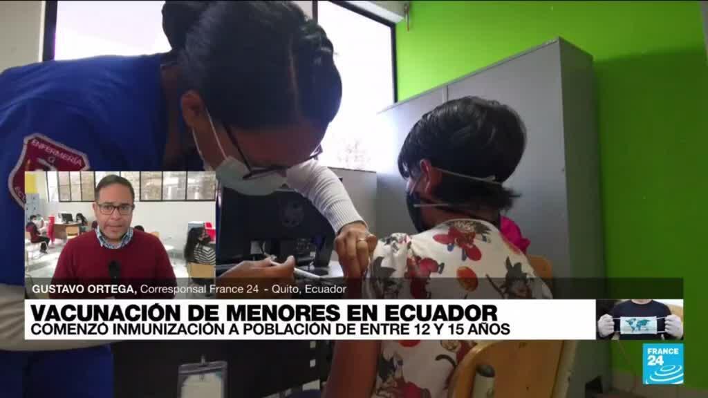 2021-09-14 02:07 Informe desde Quito: Ecuador suministra vacuna contra el Covid-19 a menores entre los 12 y 15 años