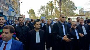 Manifestation des avocats à Annaba en Algérie, le 11 mars 2019.