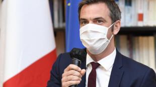 """Le ministre de la Santé, Olivier Véran, clôture le """"Ségur de la Santé"""", le 21 juillet 2020 à son ministère à Paris"""