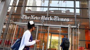 The New York Times headquarters is seen in this file picture