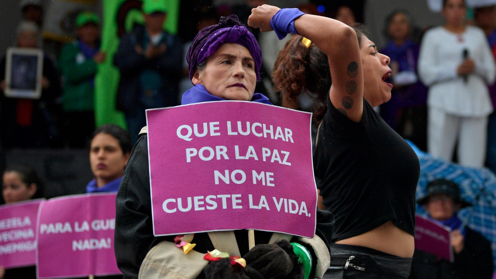 Marcha del 8 de marzo, Bogotá Colombia