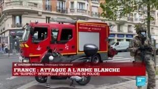 """2020-09-25 13:05 L'attaque à l'arme blanche près des anciens locaux de Charlie Hebdo """"pourrait soulever beaucoup de questions"""""""