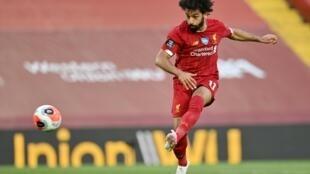 Mohamed Salah scores Liverpool's second goal