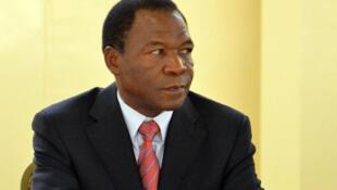 François Compaoré, frère de l'ancien président burkinabé Blaise Compaoré, lors d'un sommet à Ouagadougou, en 2012.