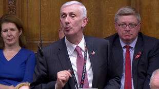 Sir Lindsay Hoyle is seen after being elected the new Speaker of the House of Commons, in London, Britain November 4, 2019, in this screen grab taken from video.