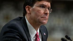 El secretario de Defensa de Estados Unidos, Mark Esper, durante una audiencia de confirmación del Comité de Servicios Armados del Senado en Washington el 16 de julio de 2019.