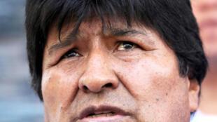 Archivo: El presidente de Bolivia, Evo Morales, asiste a una ceremonia en el puerto de Jennefer, Santa Cruz, Bolivia, el 30 de octubre de 2018.