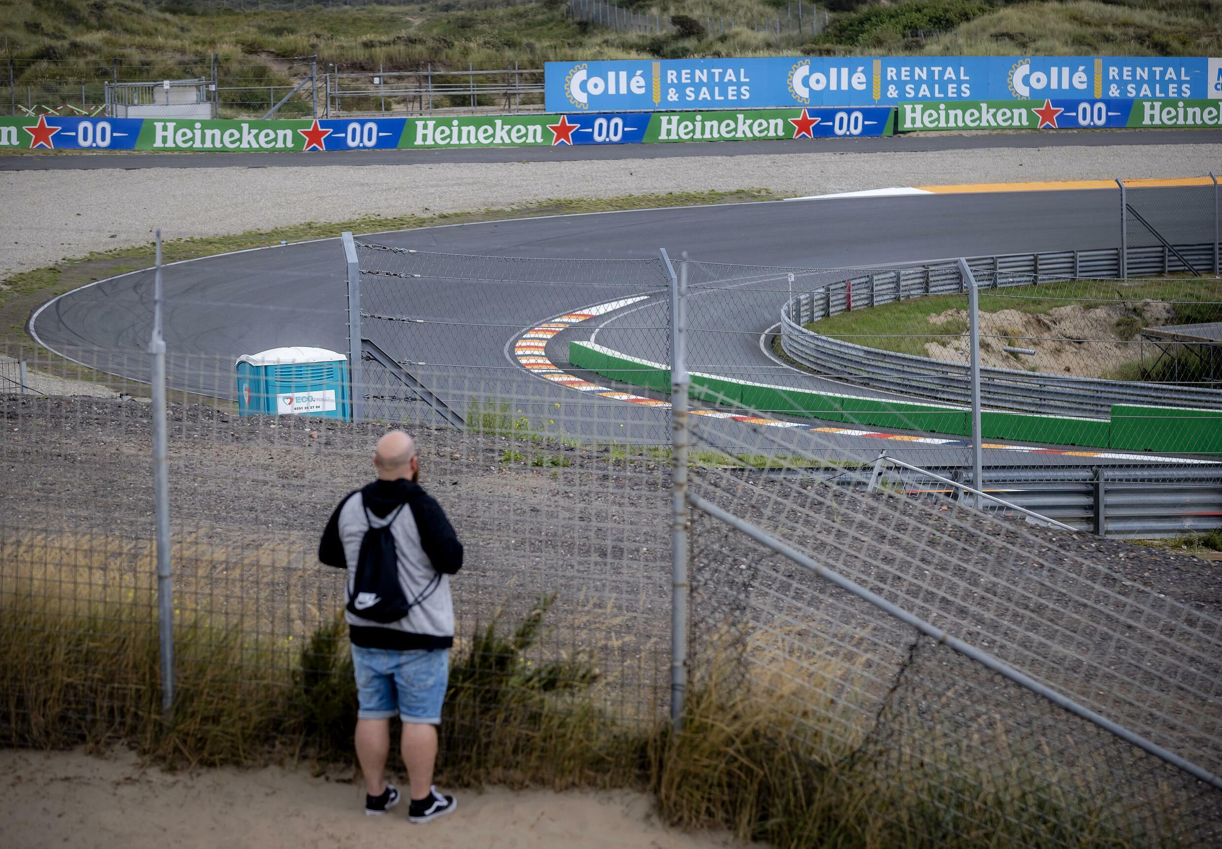 Looking back: Zandvoort's Tarzan corner on Wednesday ahead of the arrival of the Formula One circus