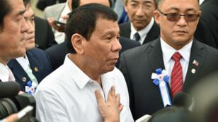 Le président philippin Rodrigo Duterte en déplacement au Japon, à Yokoham, le 27 octobre  2016.