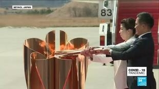 2020-03-20 11:13 Coronavirus outbreak: Olympic flame gets muted welcome in Japan