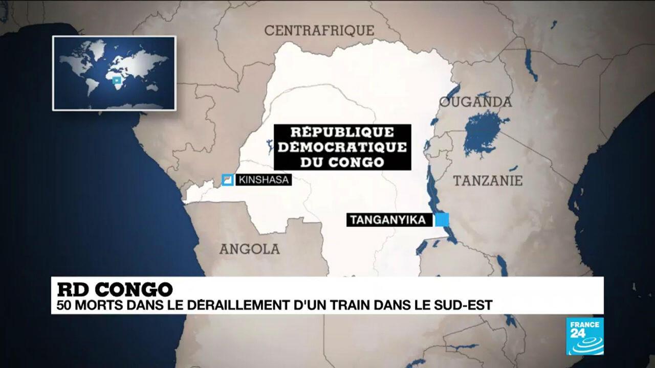 Un déraillement de train meurtrier en RD Congo