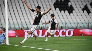 Juventus, portée par Cristiano Ronaldo, double buteur, a dominé la Lazio à Turin, le 20 juillet 2020