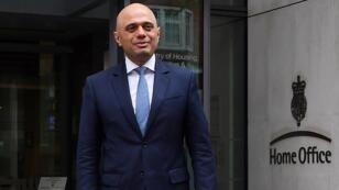وزير الداخلية البريطاني الجديد ساجد جاويد 30 نيسان/أبريل 2018