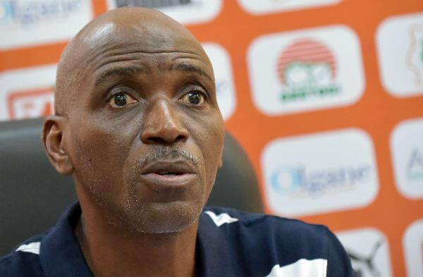 Le coach de la Côte d'Ivoire, Ibrahim Kamara, lors d'une conférence de presse le 31 mai 2019 à Chantilly.