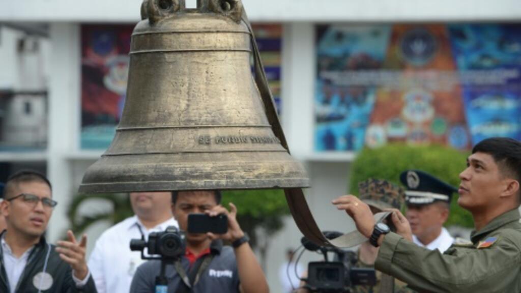 US returns war trophy bells to Philippines