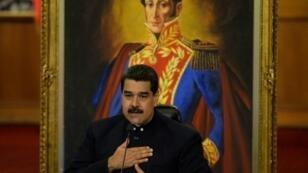 مادورو في قصر ميرافلوريس الرئاسي في كراكاس