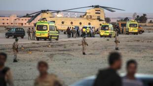 - موقع تحطم الطائرة الروسية في سيناء المصرية في 31 تشرين الأول/أكتوبر 2015