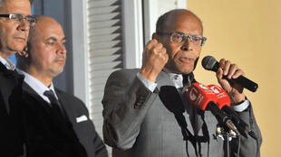 Moncef Marzouki s'est exprimé mardi 23 décembre au soir depuis le balcon de son QG de campagne.