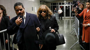 Actress Rosie Perez exits after testifying during film producer Harvey Weinstein's sexual assault trial at New York Criminal Court, New York, USA, January 24, 2020.