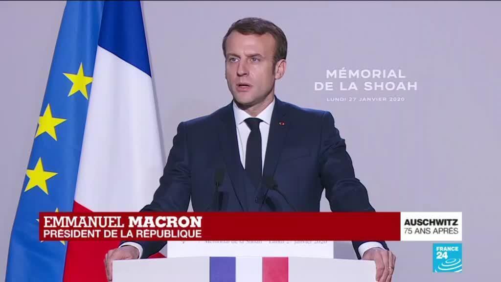 2020-01-27 11:52 REPLAY - Le discours d'Emmanuel Macron pour les 75 ans de la libération d'Auschwitz