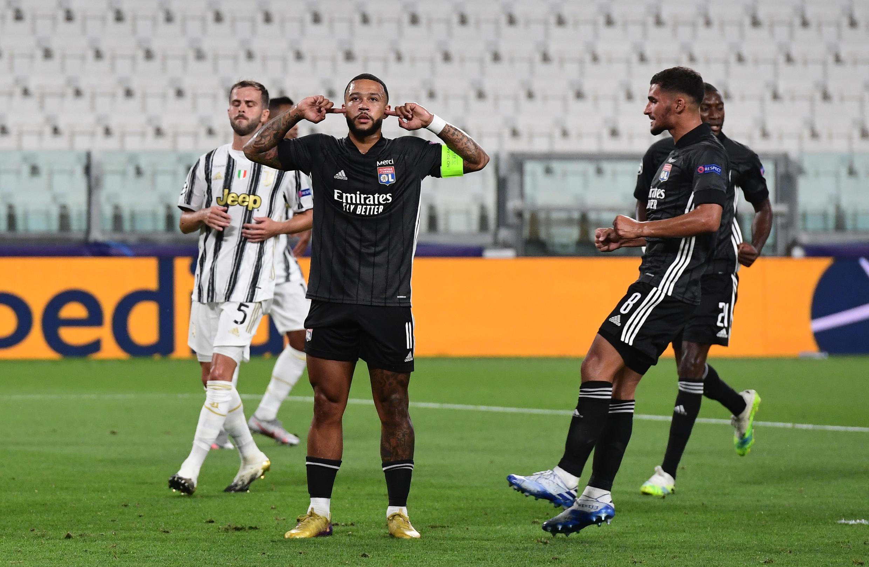 Memphis Depay a ouvert le score pour Lyon lors du huitième de finale retour de Ligue des champions.