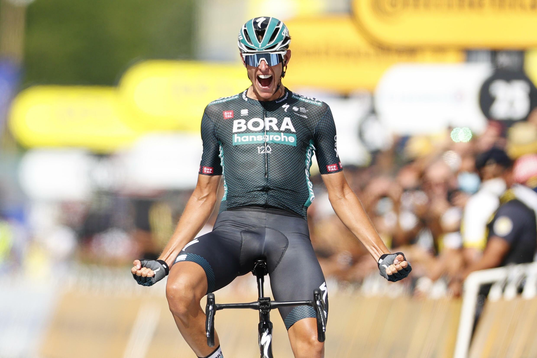 L'Allemand Nils Politt a remporté en solitaire la 12e étape du Tour de France, entre Saint-Paul-Trois-Châteaux and Nîmes, le 8 juillet 2021