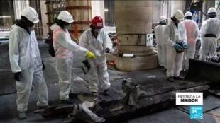 2020-04-15 10:10 Incendie de Notre-Dame : un an après, le chantier de la cathédrale en sommeil