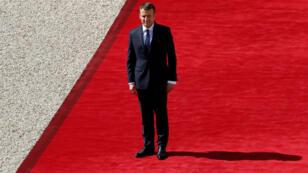 Emmanuel Macron lors de son investiture dimanche 14 mai 2017.