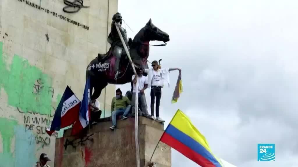 2021-05-16 14:34 Colombia: masivas concentraciones en la jornada 18 de las protestas