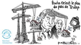 Le dessinateur de presse français Plantu réagit au plan de paix présenté par Donald Trump.