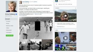 Le compte Facebook de la Première ministre norvégienne, Erna Solberg, le 10 septembre 2016.