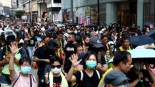 احتجاجات هونغ كونغ. 5 أكتوبر/تشرين الأول 2019.