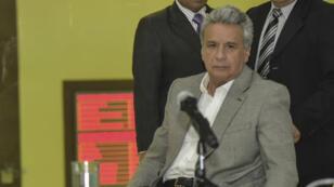 Le président Lenin Moreno a annoncé la nouvelle de l'assassinnat des deux journalistes et de leur chauffeur, vendredi 13 avril 2018.