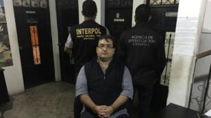 Javier Duarte après son arrestation, à Panajache, le 15 avril 2017.