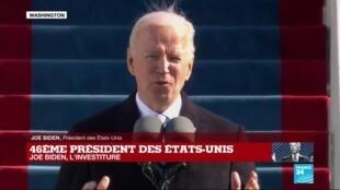 2021-01-20 17:51 REPLAY - Le discours d'investiture de Joe Biden, 46e président des Etats-Unis