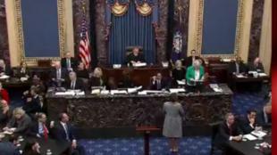Le Sénat américain votant le 5 février 2020 sur la destitution de Donald Trump.