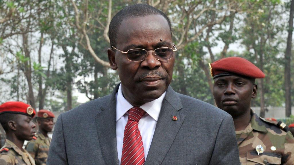 Le Premier ministre André Nzapayéké, en février 2014.