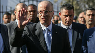 Le Premier ministre palestinien Rami Hamdallah dans la bande de Gaza, le 3 octobre.