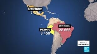 2020-05-25 14:23 En Amérique latine, la pandémie s'accentue avec plus de 40 000 morts
