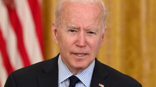الرئيس الأميركي جو بايدن في البيت الأبيض في السابع من أيار/مايو 2021