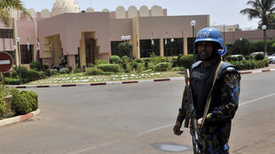 File photo of a UN soldier in Bamako.