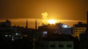 L'aviation israélienne a bombardé Gaza, samedi 2 juin.