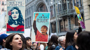 À la Women's March de Los Angeles en Californie, le 21 janvier 2017.