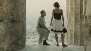 François Mitterrand et Anne Pingeot à l'Acropole vers 1970.