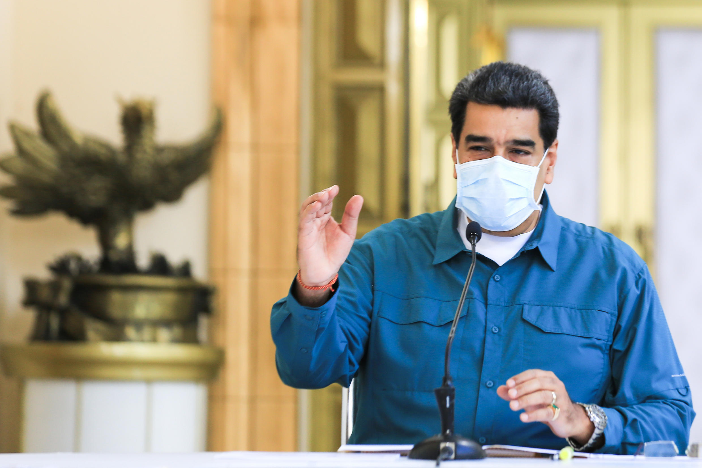 El presidente venezolano Nicolás Maduro, el 19 de julio de 2020 en el presidencial Palacio de Miraflores en Caracas.