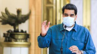 El presidente venezolano Nicolás Maduro, el 19 de julio de 2020 en el presidencial Palacio de Miraflores en Caracas