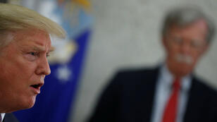 John Bolton, l'ancien conseiller à la sécurité nationale de Donald Trump photographié à la Maison blanche en mai 2019.