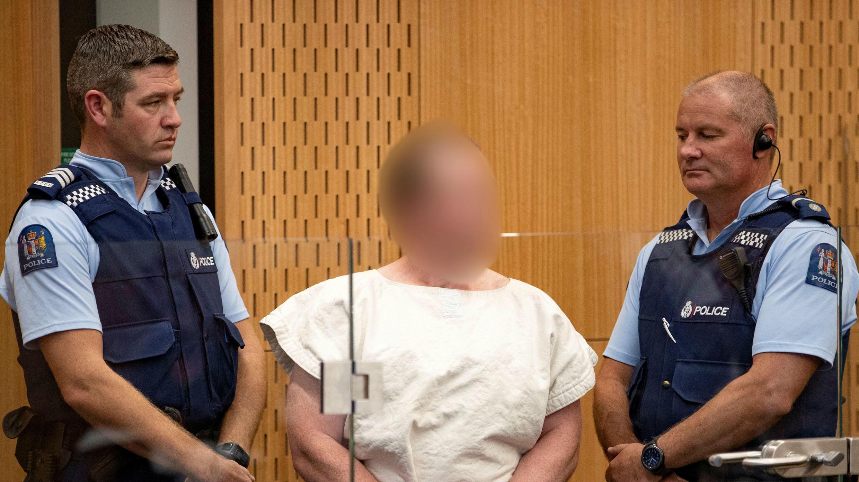 Brenton Tarrant, durante su comparecencia ante el Tribunal del Distrito de Christchurch, el pasado 16 de marzo.